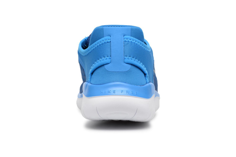 Chaussures de sport Nike Nike Free Rn 2018 (Gs) Bleu vue droite