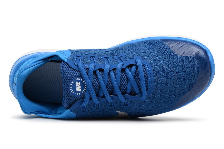 Chaussures de sport Nike Nike Free Rn 2018 (Gs) Bleu vue gauche