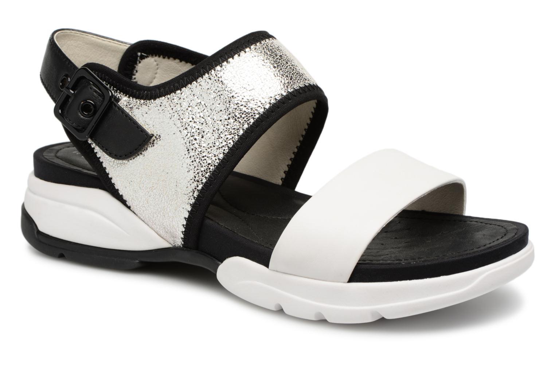 Grandes descuentos últimos zapatos Geox D SAND.SFINGE A D725NA (Plateado) - Sandalias Descuento
