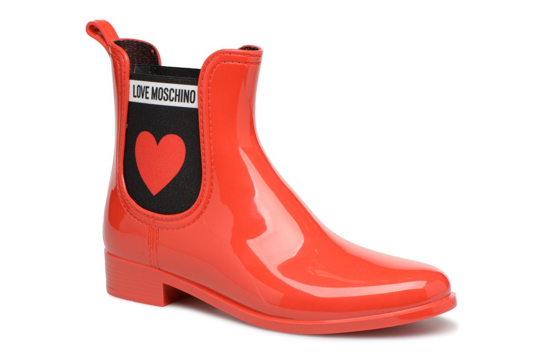 Moschino Love Rain Boot Anckle Rouge Plain xYYrwdaq
