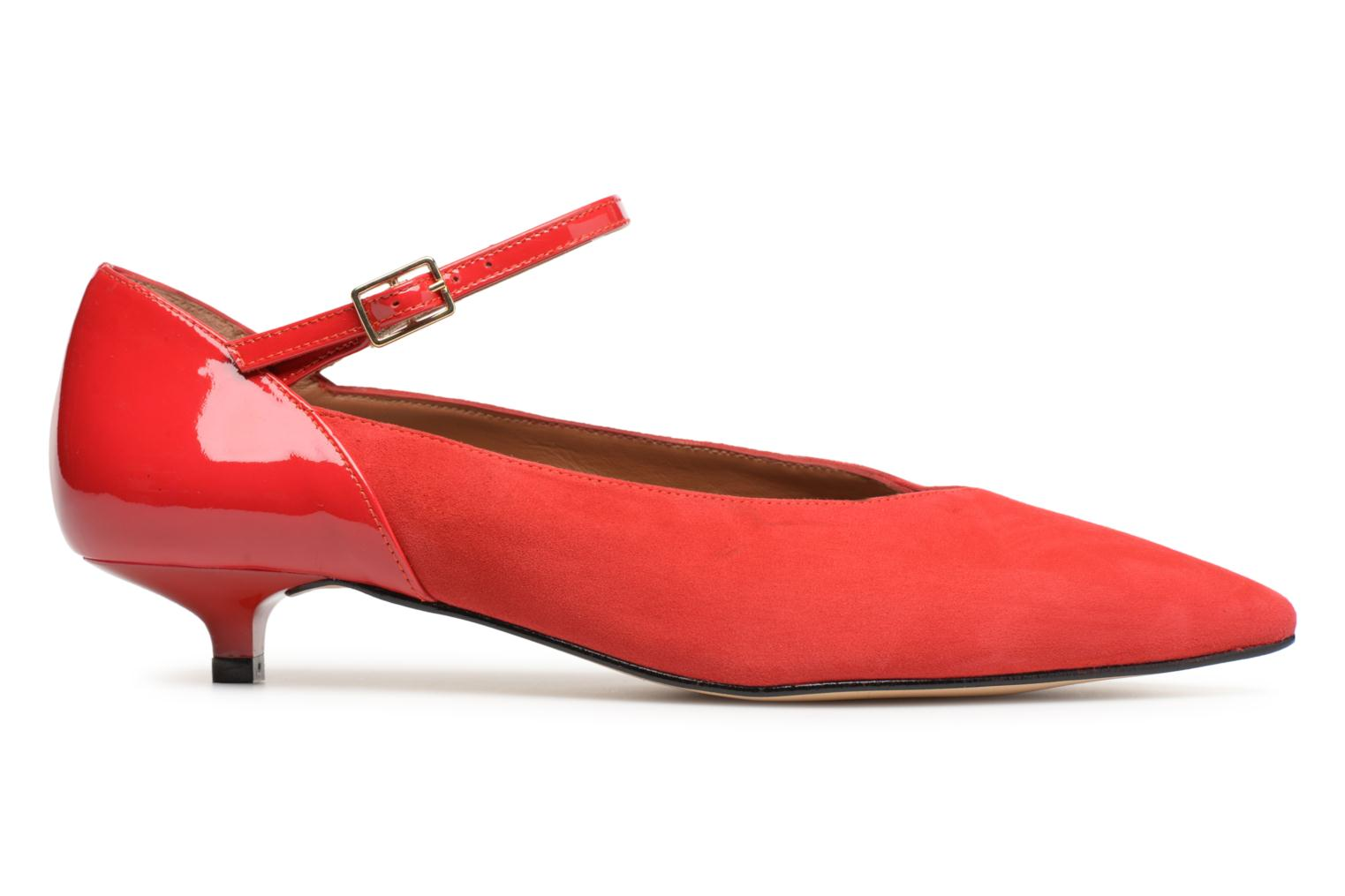 Marques Chaussure femme Made by SARENZA femme 80's Disco Girl Escarpins #1 Cuir Velours et Cuir Vernis Rouge