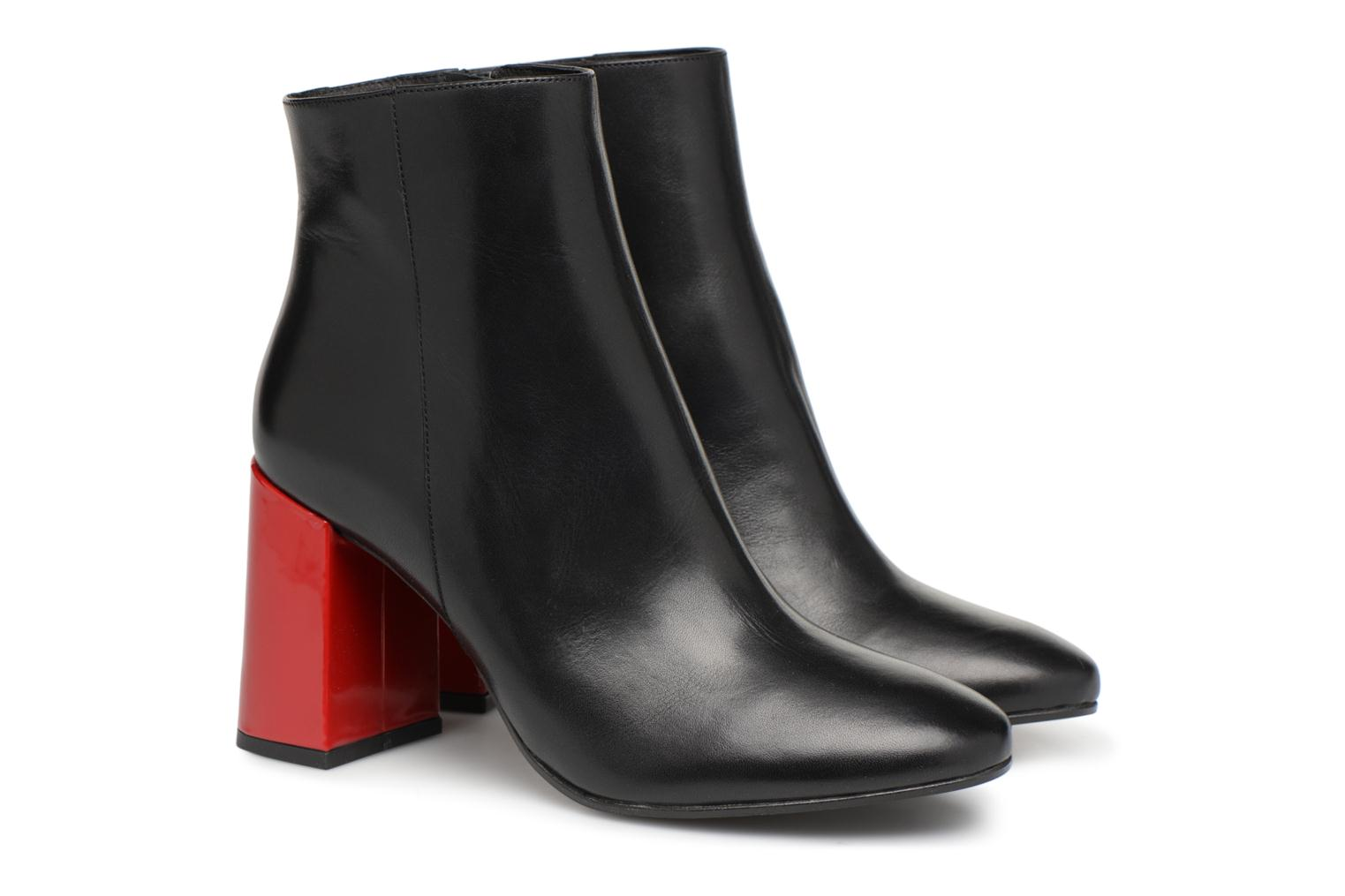 Vernis Talons by à Rouge Cuir Made Noir Talon 5 Busy Bottines Lisse Girl SARENZA ZpdYFWB