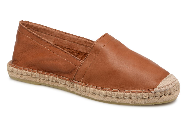 Zapatos promocionales Pieces KATIE LEATHER ESPADRILLE (Marrón) - Alpargatas   Descuento de la marca