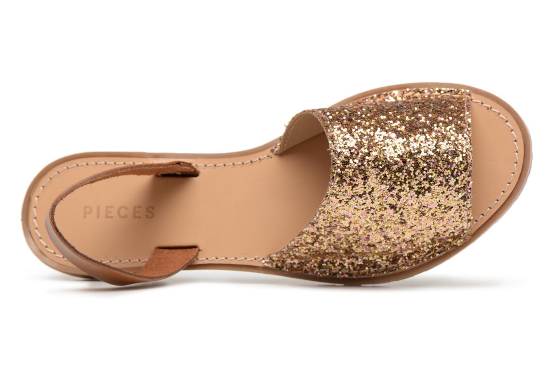 Zapatos promocionales Pieces MERCY LEATHER GLITTER SANDAL (Oro y bronce) - Sandalias   Venta de liquidación de temporada
