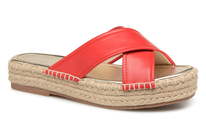 Grandes descuentos últimos zapatos Compania Fantastica Sandales compensées Satinash (Rojo) - Zuecos Descuento