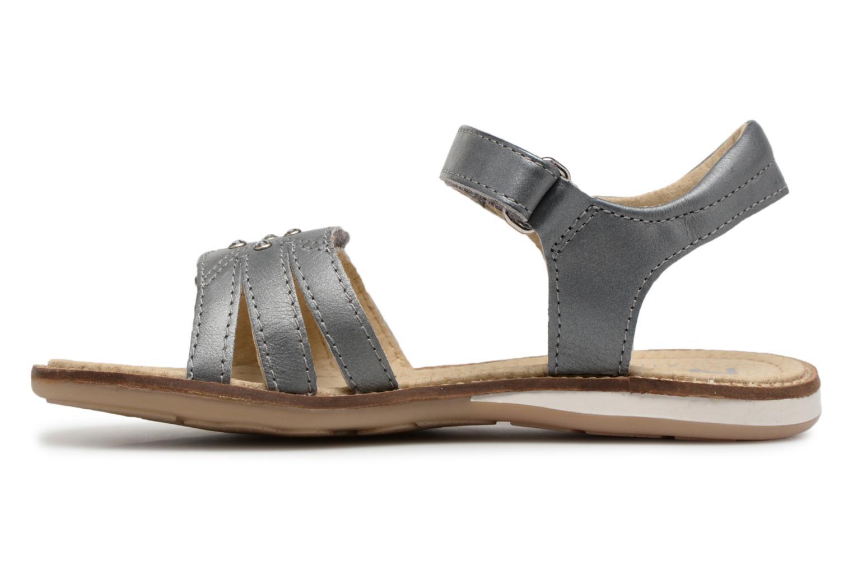 Sandales et nu-pieds Noël SIRI Gris vue face