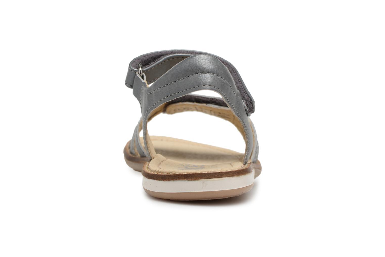 Sandales et nu-pieds Noël SIRI Gris vue droite