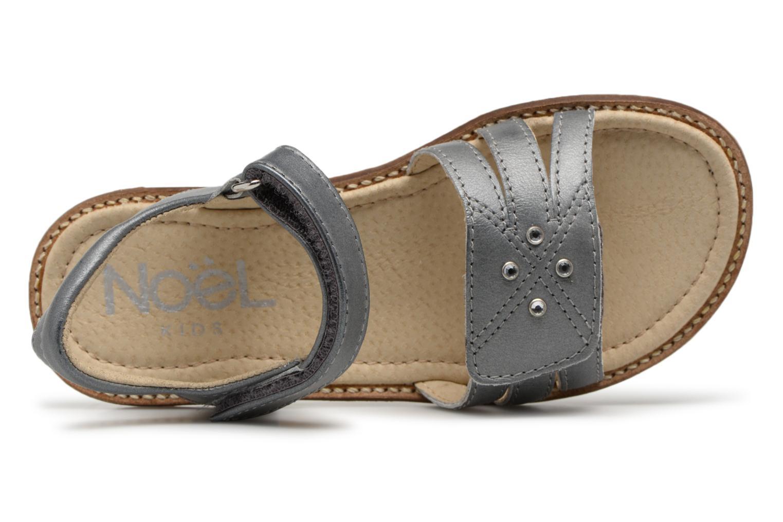 Sandales et nu-pieds Noël SIRI Gris vue gauche