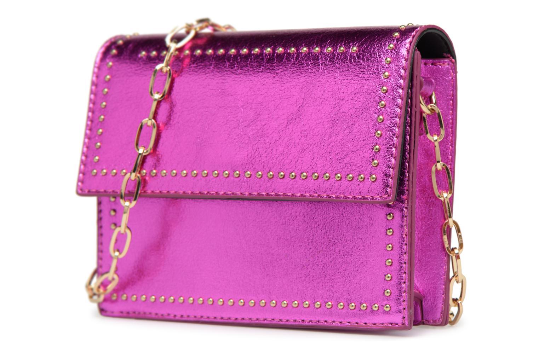 Handtaschen Street Level Mettalic chainstrap crossbody rosa schuhe getragen