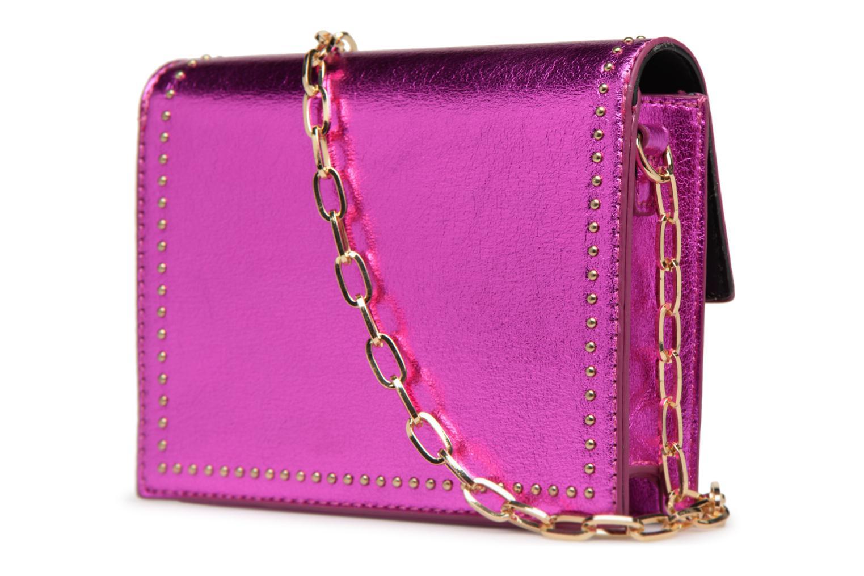 Handtaschen Street Level Mettalic chainstrap crossbody rosa ansicht von rechts