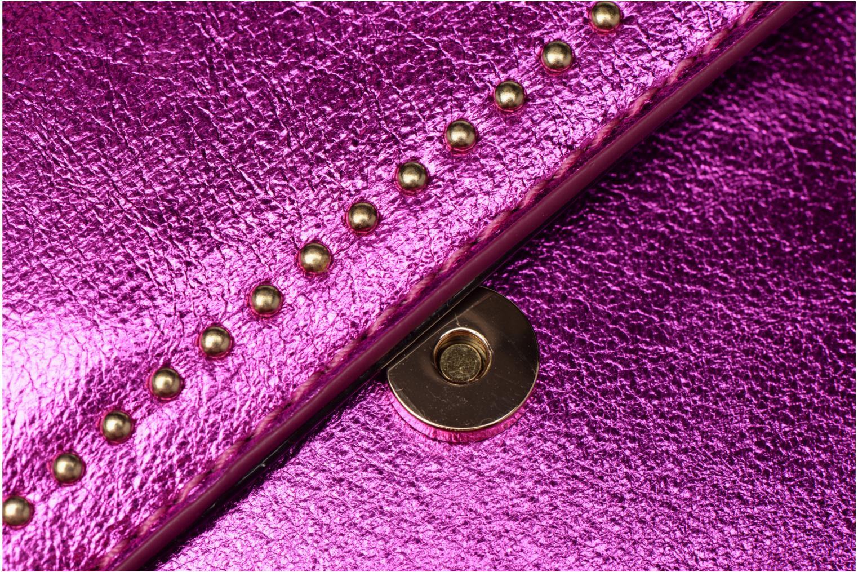 Handtaschen Street Level Mettalic chainstrap crossbody rosa ansicht von links