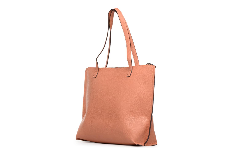 Handtaschen Street Level Tote with top zipper rosa ansicht von rechts