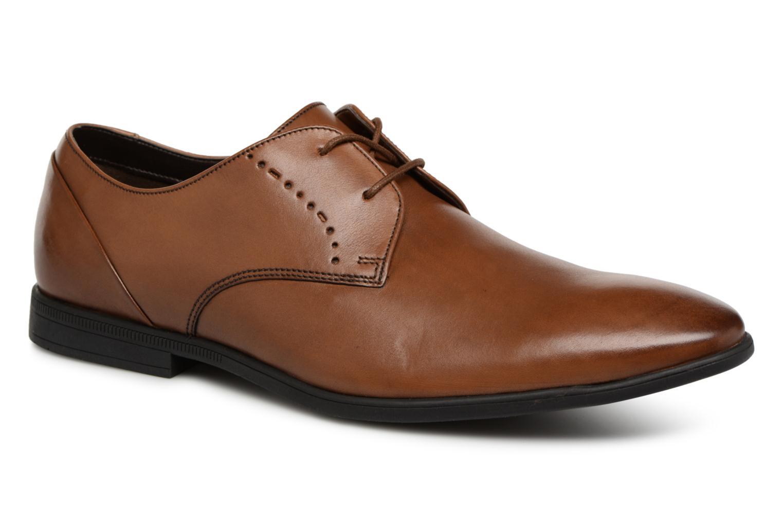 Zapatos especiales para hombres y mujeres Clarks Bampton Lace (Marrón) - Zapatos con cordones en Más cómodo