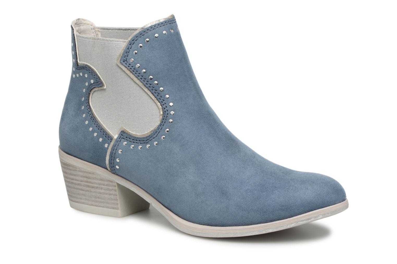Zapatos de mujer baratos zapatos de mujer Marco Tozzi 2-2-25054-30 853 (Azul) - Botines  en Más cómodo