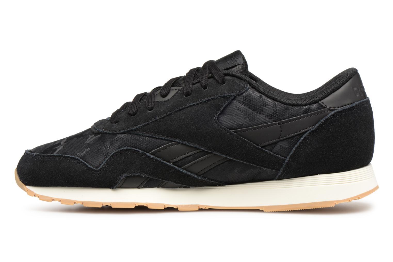 Sneaker Reebok Classic Nylon SG schwarz ansicht von vorne