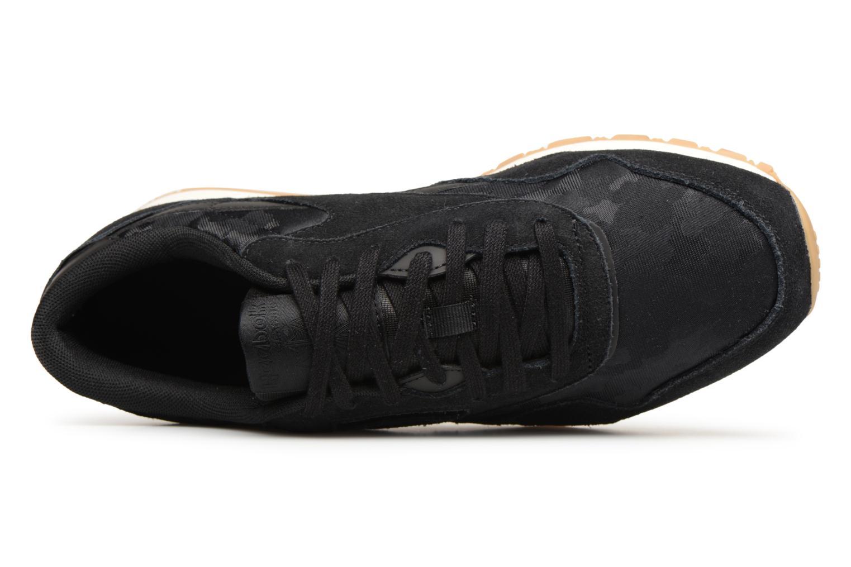 Sneaker Reebok Classic Nylon SG schwarz ansicht von links