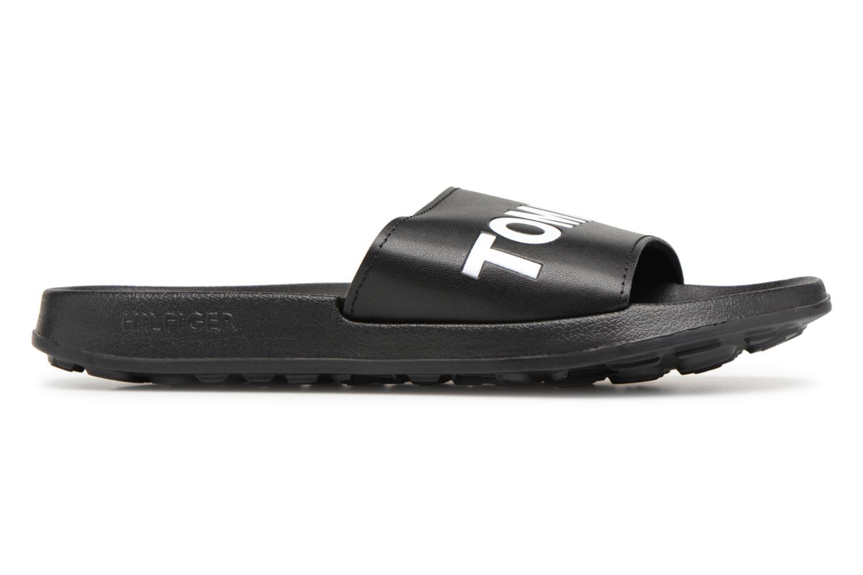 Sandalen Tommy Hilfiger Tommy Slide sandal Zwart achterkant