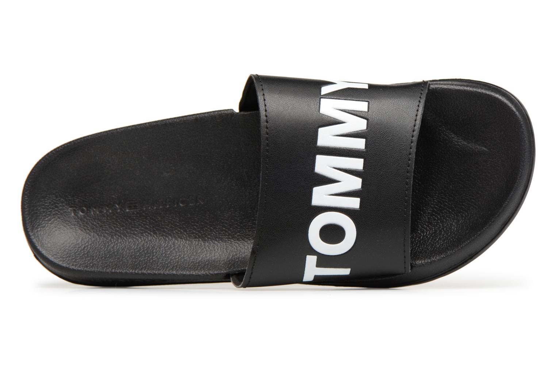 Sandalen Tommy Hilfiger Tommy Slide sandal Zwart links