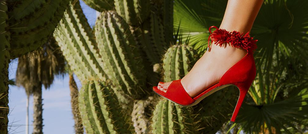 Made by Sarenza red high heels