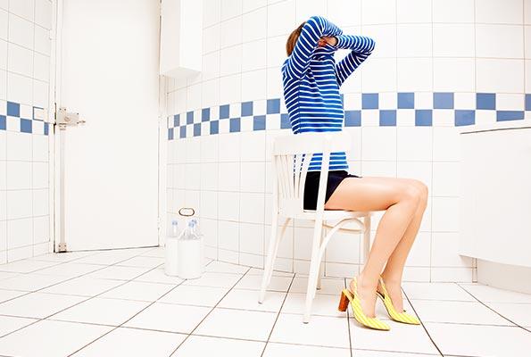 Kolekcja szpilek - buty dla kobiet w żółte paski Sarenza-Les-Flots