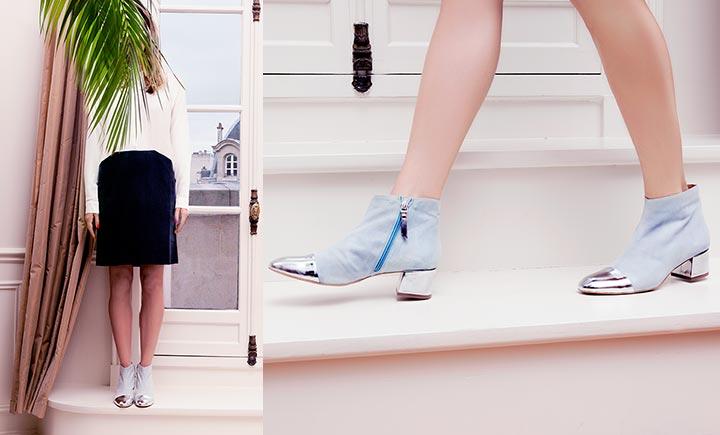 Kolekcja niebieskich botków dla kobiet Sèvres Babylove