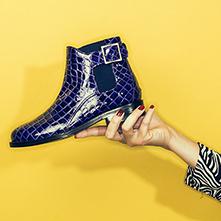 Women Ethnic Textile Shoes Blue Print Lace Up
