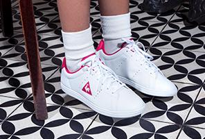 Basket Le Coq Sportif Rétro Tennis Enfant