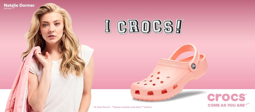 Header Crocs nouvelle collection
