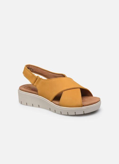 Artikel klicken und genauer betrachten! - Clarks Unstructured-Sandalen für Damen verfügbar in Gr.. , Material: Leder, Farbe: gelb, Stil: mit Schnallen Freizeit Freizeit | im Online Shop kaufen