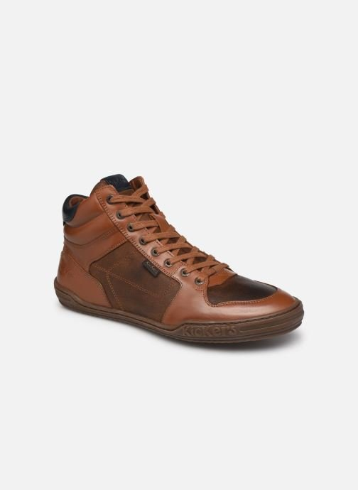 Artikel klicken und genauer betrachten! - Kickers-Sneaker für Herren verfügbar in Gr.. , Material: Leder, Farbe: braun, Stil: mit Riemen Freizeit    Ledersneaker | im Online Shop kaufen