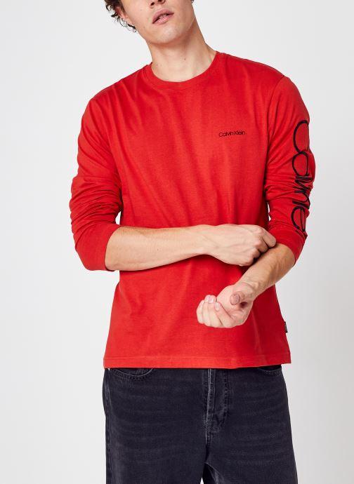 Logo Long Sleeve T-Shirt par - Calvin Klein - Modalova