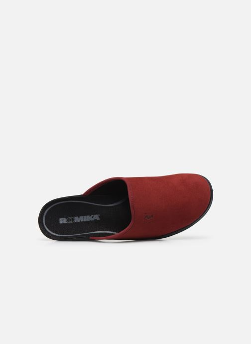 Slippers Romika Remo 122 Red view from the left