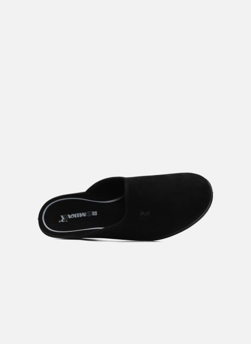 Slippers Romika Remo 122 Black view from the left