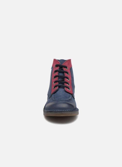 Scarpe con lacci Kickers Kick Col Azzurro modello indossato
