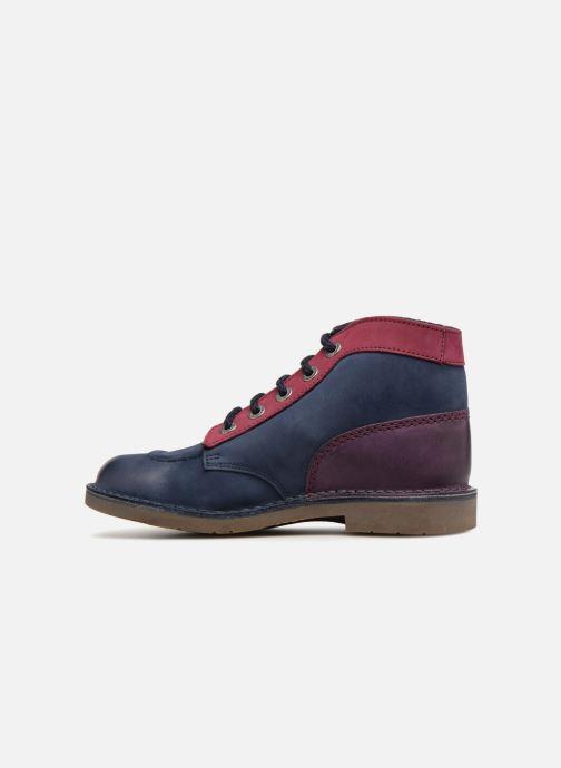 Zapatos con cordones Kickers Kick col Azul vista de frente