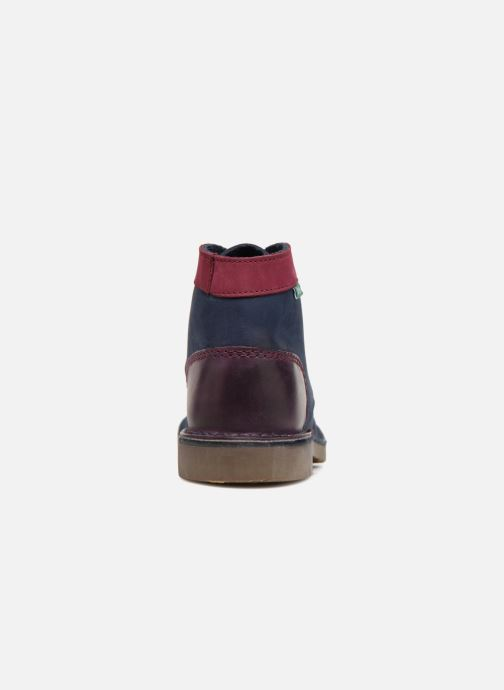Zapatos con cordones Kickers Kick col Azul vista lateral derecha