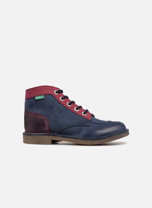 Zapatos con cordones Kickers Kick col Azul vistra trasera