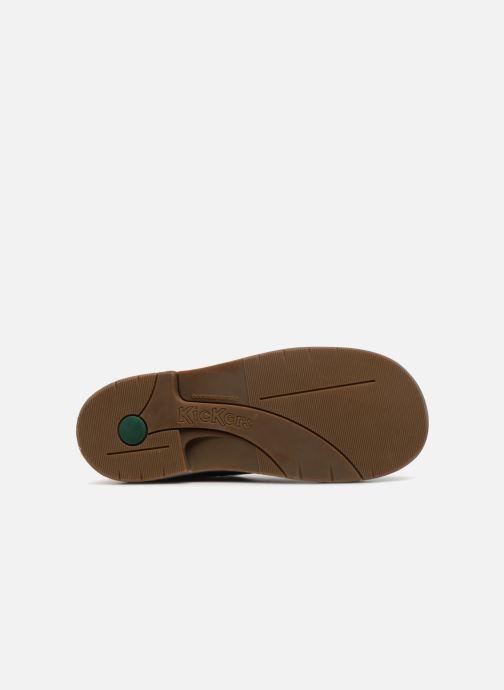 Zapatos con cordones Kickers Kick col Azul vista de arriba