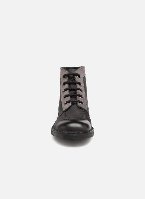 Chaussures à lacets Kickers Kick Col Noir vue portées chaussures