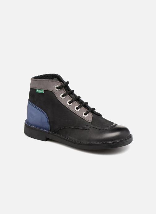 Chaussures à lacets Kickers Kick Col Noir vue détail/paire