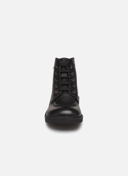 Scarpe con lacci Kickers Kick Col Nero modello indossato