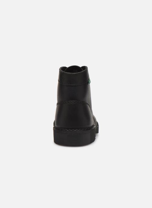 Zapatos con cordones Kickers Kick col Negro vista lateral derecha