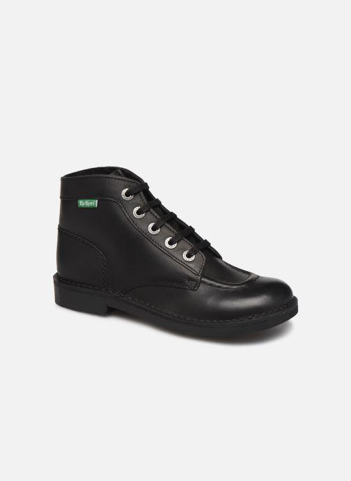 Snøresko Kickers Kick Col Sort detaljeret billede af skoene