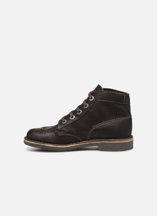 Chaussures à lacets Kickers Kick Col Marron vue face