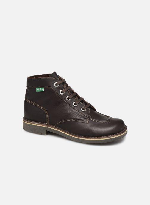 Kickers Kick Col (Marron) Chaussures à lacets chez Sarenza