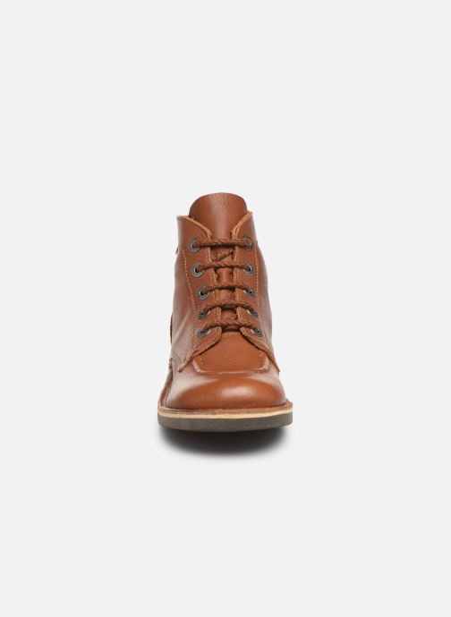 Zapatos con cordones Kickers Kick col Marrón vista del modelo
