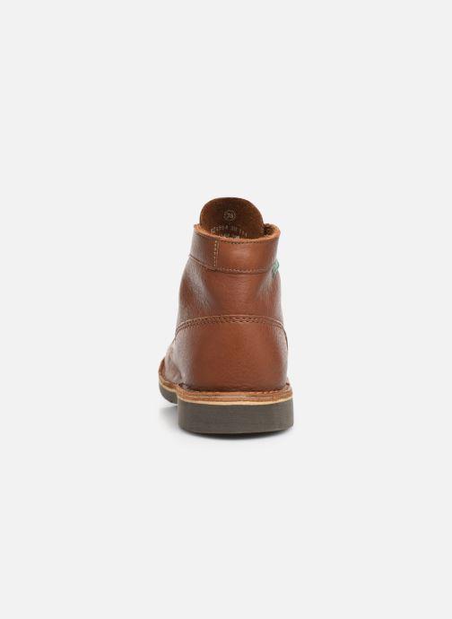 Zapatos con cordones Kickers Kick col Marrón vista lateral derecha