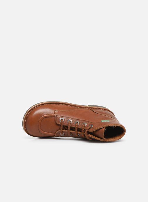 Zapatos con cordones Kickers Kick col Marrón vista lateral izquierda