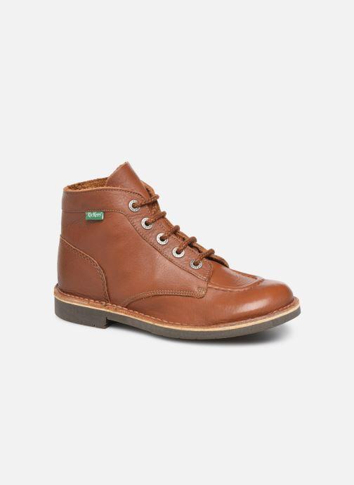Chaussures à lacets Kickers Kick Col Marron vue détail/paire