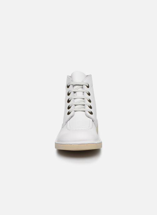 Chaussures à lacets Kickers Kick Col Blanc vue portées chaussures